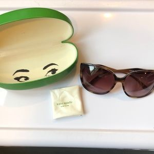 Kate Spade tortoise sunglasses with gold detail